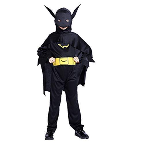 Superheld H&m Kostüm - POIUYT Halloween Kinder Enge Kleidung Pack American Iron Man Kapitän Spinne Batman Anime Cosplay Kostüm - Superheld Parallel Universum,H-M