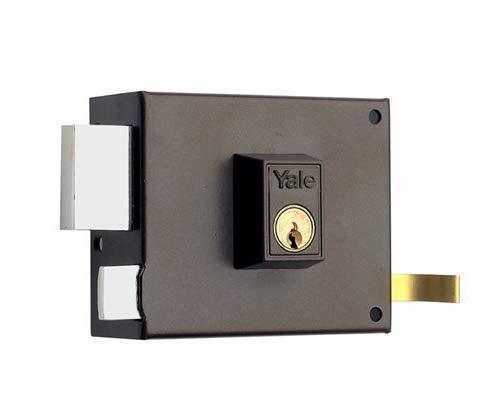 Yale, 1250120IHP., Cerradura de Sobreponer Estándar, Hierro Pintado, 120 mm, 125 / Izquierda