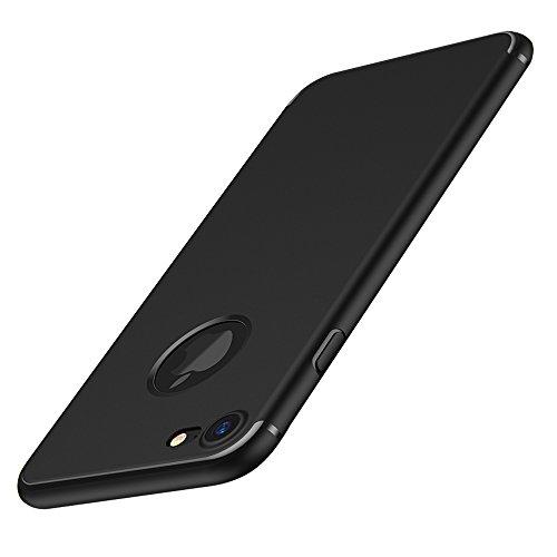 Hülle für iPhone 7, FayTun Handyhülle für iPhone 7- Schutz vor Kratzer, Staub, Wasser und Scratch- Ultra Dünn Stoßfest Silikon TPU Schutzhülle für iPhone 7 (4.7 Zoll, Schwarz)