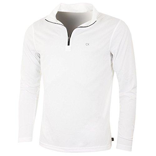 Calvin Klein Golf Mens Harlem 1/4 Zip Pull - Blanc - XL