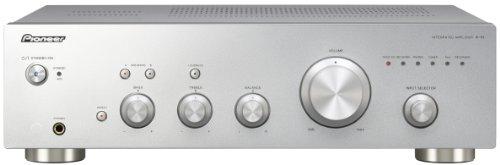 Pioneer A-10(S) Stereo-Vollverstärker, vollsymmetrische Endstufe, Phono Eingang, Lautsprecher A/B Schaltung, Loudness Funktion, Hifi Verstärker 2 Kanäle, 50 W/Kanal, Silber