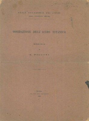 Ossidazione dell'acido titanico.