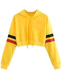Sudaderas Adolescentes Chicas, Fossen Sudaderas Mujer Tumblr con Capucha - Emoticon Estampado Blusa Tops Camiseta