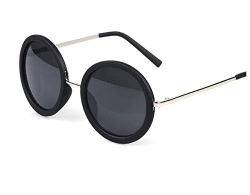 GY-HHHH Sonnenbrille große runde Sonnenbrille Unisex-Sonnenbrille schwarzKlassisches Retro-Outdoor-Essential