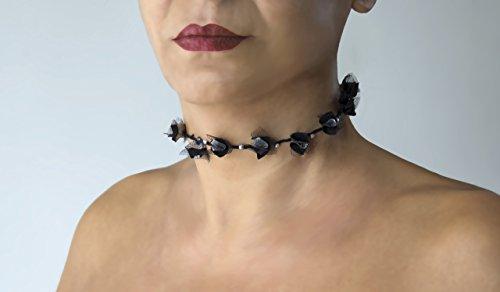 collier-choker-ras-de-cou-necklace-mypesh-fleur-dtoffe-argent-et-noir