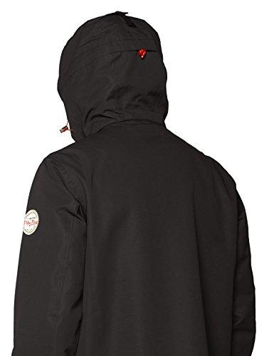 Herren Regen-Jacke Freizeitjacke Übergangsjacke von Fifty Five - Rocky Bay - mit FIVE-TEX Menbrane für Outdoor-Bekleidung Schwarz (Black 010)