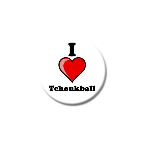 """Set di tre I Love Tchoukball-Magneti per frigorifero, misure: 25 mm & 38 mm, Con stampa design, 38mm (1œ"""")"""