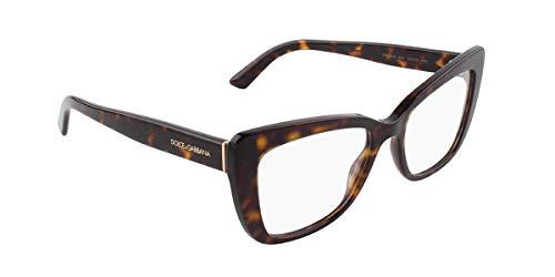 Dolce & Gabbana Damen 0DG3308 Brillengestelle, Braun (Havana), 53