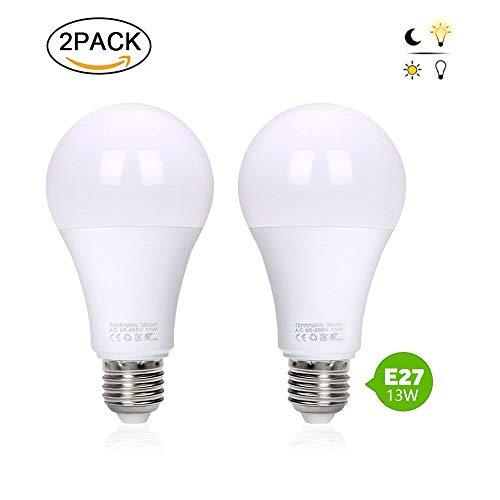 flintronic ® Ampoule LED, Lampe 13W à Induction (économiseur d'énergie et Auto on/Off) 3000k Lampe de lumière Chaude 50000 hrs, Angle de 120 ° d'éclairage de Nuit...