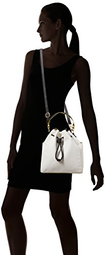 New Look Womens Unlined Duffle Backpack Handbag White (White)