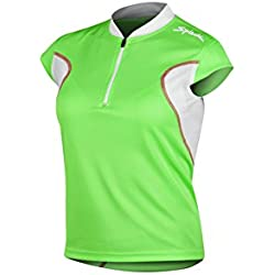 Spiuk Anatomic - Maillot M/C para mujer, color verde / blanco, talla S