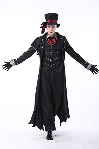 tüm,Halloween Kostüme für Männer und Frauen Earl Vampir Nachtclub Teufel Kostüm Zombies, Männer, M ()
