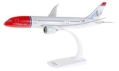 Herpa 610216-001 - Norwegian Air Shuttle Boeing 787-8 Dreamliner, Flugzeug, weiß/rot/blau von Herpa Miniaturmodelle GmbH