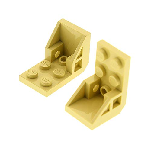 2 x Lego Technic Sitz beige tan 3x2 2x2 Space Seat Halterung Stuhl Set Star Wars 7101 7151 7662 7258 8108 8111 4598