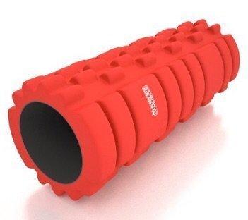 Rodillo de espuma ultraligero para fisioterapia, yoga, pilates, alivio del dolor muscular intenso en cuerpo y piernas, masaje muscular para fitness, masaje de espalda, terapia física... Perfecto para todos los niveles de fitness., rojo