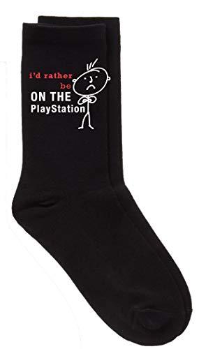 Homme je le ferais Rather Be on the Playstation noir mollet chausettes fête des pères Mari Papa boyfriend ONCLE grand-père grand-père cadeau