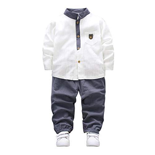 Baby Set Jungen, UFODB Junge Boys Stripe Hemdkragen Pentagramm Printed Sweater Pullovers Tops + Jeanshosen Kleidung Outfit (Kleidung Baby Boy Weihnachten)