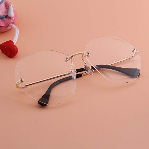 YanyanNKC polygonale Sonnenbrille weibliches rundes Gesicht großes Gesicht Wilde Schnitt-Rand-Art und Weise 2 * 5.3In G