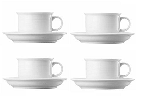 4x Thomas Trend Weiss Kaffeetasse 2-tlg. (4x Kaffee Obertasse 0,18ltr. und 4x Kaffee Untertasse...