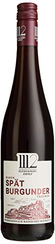 1112  Spätburgunder Trocken - Rotwein der Marke Elfhundertzwölf 2016 (6 x 0,75l)