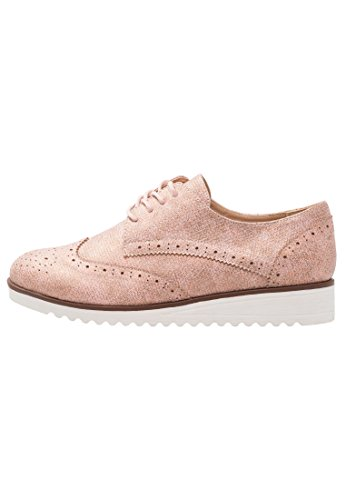 Anna Field Zapatos de Cordones Para Mujer con Estilo Derby - Nude, 41
