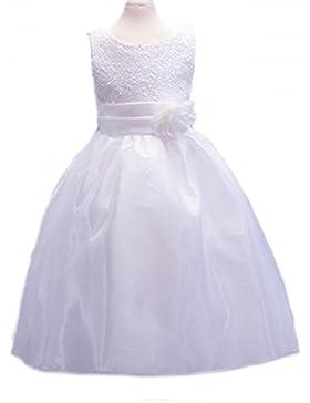 Mädchen Paillettenbesetzte Kleid, Blumenmädchenkleid, Partykleid