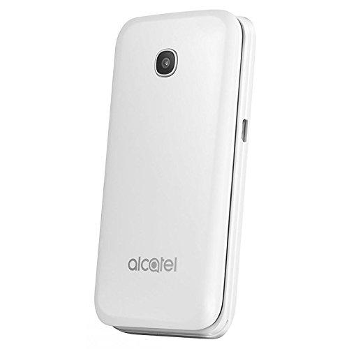 Alcatel 2051X BLANC Téléphone à Clapet 2G (Ecran: 2.4 pouces - Double SIM) Blanc