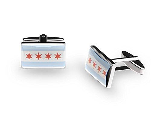 Chicago - US City - Boutons de manchette (avec boîte cadeau)