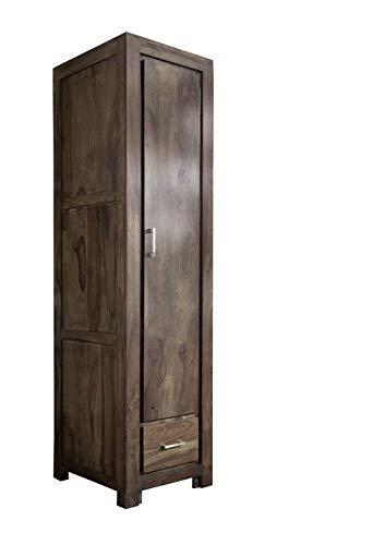 MASSIVMOEBEL24.DE Sheesham Möbel Holz massiv Garderobe Palisander grau Massivmöbel Metro Polis #118