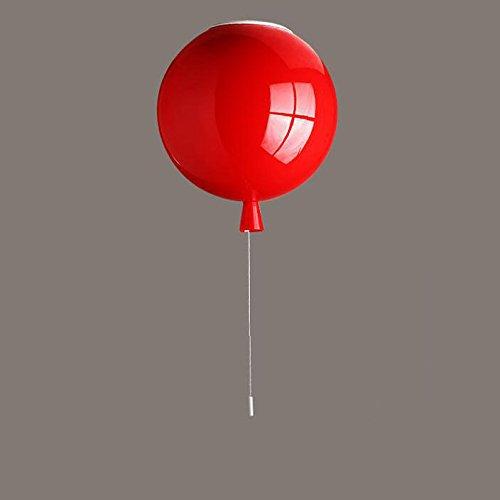 Natürliche Lampenschirme (Deckenleuchte Deckenlampe Acrylic Hell Deckenstrahler Ballon Form Beleuchtung Deckenlampen Moderne Flammig Kinderzimmer Leuchte Kind Schlafzimmer Pendelleuchten E27 lampenschirm in verschiedenen Farben (Rot))