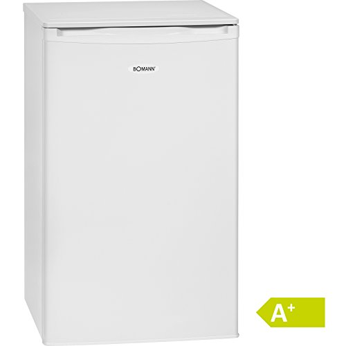 Bomann KS 163.1 Kühlschrank / A+ / Kühlen: 86 L / Gefrieren: 10 L / weiß - Mini-kühlschrank Transparent