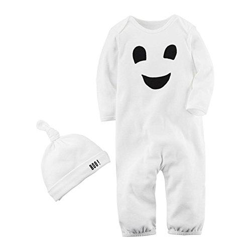 Pyjama Set Kind Junge Mädchen Baby Weiß Schlafanzüge Child Nachtwäsche 5 Monate-3 Jahre Weiß Höhe 85cm (Säugling/kleinkind Tier Halloween Kostüme)