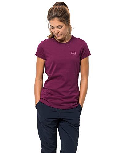 Jack Wolfskin Damen Essential T-Shirt, wild Berry, M -