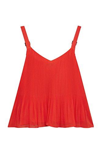 next Femme Coupe Classique Caraco Plissé Orange