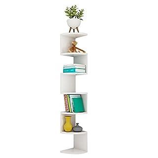 Fan-wie Ecke Regal Bücherschrank Wandregal Regal Lagerung Rack Wandwinkel rackTV Hintergrund Wand Rahmen, Sieben Ebenen des Raumes (DIY Montage) stapel (Farbe : Weiß)