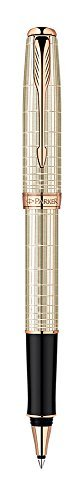 Parker Sonnet Chiseled Fine Point Fine Writing Rollerball Pen, Silver (1859491) by Parker