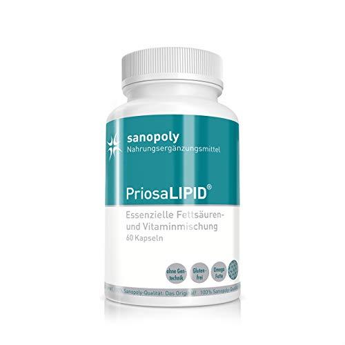 PriosaLIPID ® | Hochwertige Omega 3 & 6 Fettsäuren mit Vitaminen und Hanfsamenöl | 100% rein | geprüfte Qualität & Sanopoly-Garantie | 60 Kapseln