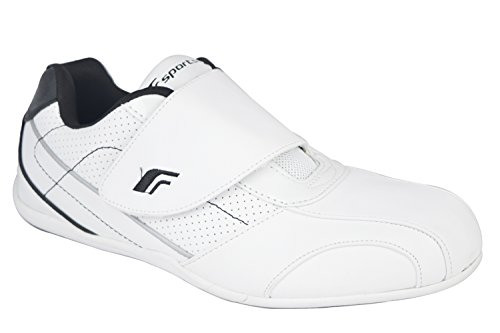 Fsports Mens White Black Colour Synthetic Sport Shoe 6UK  available at amazon for Rs.534
