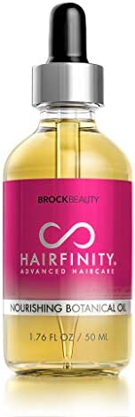 Hairfinity Botanical Hair Oil - Growth Treatment for Dry Damaged Hair and Scalp with Jojoba, Olive, Sweet Almond Oils and Mo