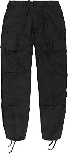 normani Rip Stop Rangerhose mit 2 Cargo Beintaschen und verstärktem Knie und Gesäß Farbe Schwarz Größe XL