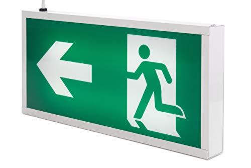 Bronson Notbeleuchtung Fluchtwegbeleuchtung LED Notlicht Notausgang mit Akku
