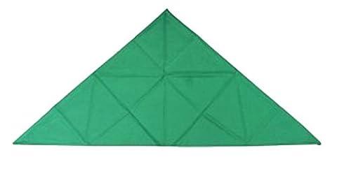 Magic Trèfle Vert uni Chefs professionnels Tête triangulaire Bandana Self Cravate 3en 1Foulard
