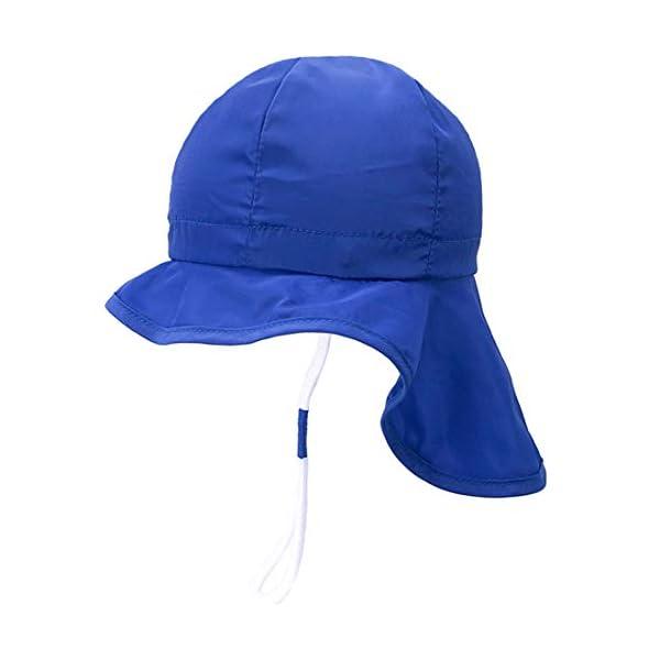 UPF50+ Sombrero de Sol con Cubrenuca para Bebé Niños Niñas Anti-UV Gorro Verano Gorrito para Playa, Natación, Pesca… 1