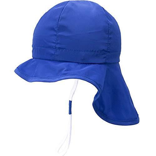 Sonnenhut mit Nackenschutz für Baby Mädchen Jungen Anti-UV UPF50+ Sommerhut für Strand, Schwimmbad, Angeln, Reise, Ausflug Hut mit Kinnriemen verstellbar (Baby-jungen-angeln-hüte)