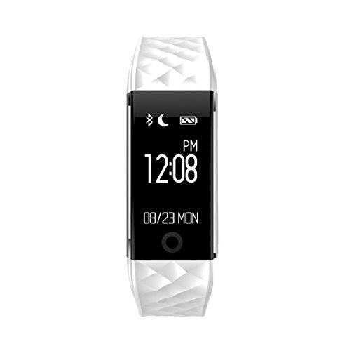 Wasserdichtes Fitness-Armband für iOs und Android Smartphones, damen, S2, weiß