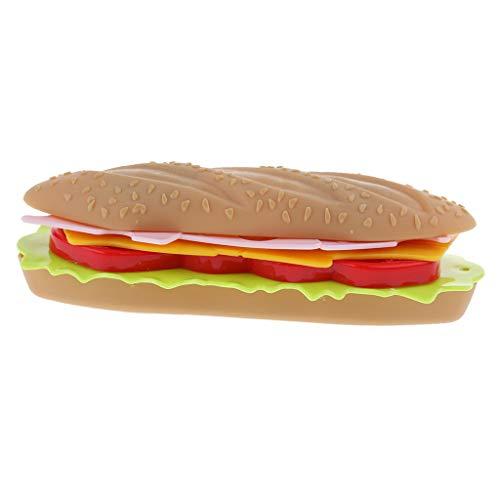 FLAMEER Fast Food Schneiden Spielzeug Lernspielzeug Kinderspielzeug für Kinder ab 3 Jahre Alt -...