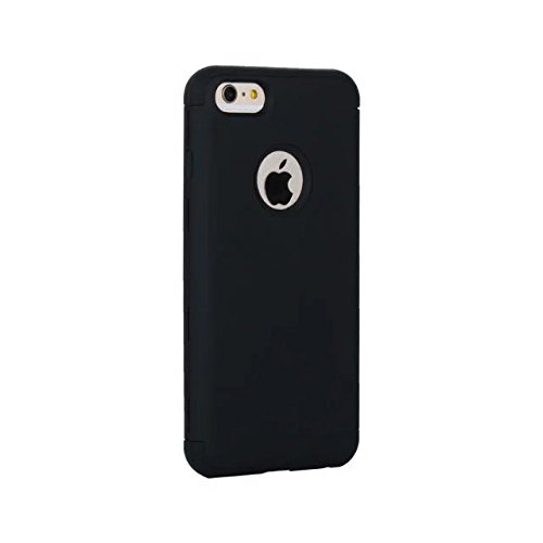 iPhone 6 Hülle,iPhone 6S Hülle,Lantier 3 in 1 Combo Slim Matt Matt Finish Design Shockproof Hybrid Dual Layer Hartschalenetui für Apple iPhone 6/6S 4.7 inch Schwarz Black