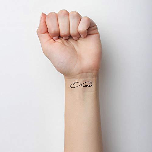 Tätowierungsaufkleber von Flash Arm Body Tattoo 10,5 cm Lila ()