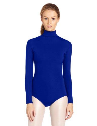 Capezio Women's Turtleneck Long Sleeve Leotard,Royal,X-Large
