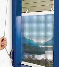Zanzariera plissettata per finestra l.134x100 h cm.
